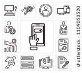 set of 13 simple editable icons ... | Shutterstock .eps vector #1109053520