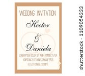 wedding invitation card | Shutterstock .eps vector #1109054333