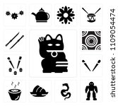 set of 13 simple editable icons ... | Shutterstock .eps vector #1109054474