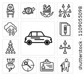 set of 13 simple editable icons ... | Shutterstock .eps vector #1109055098