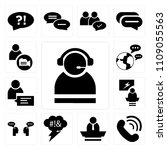 set of 13 simple editable icons ... | Shutterstock .eps vector #1109055563