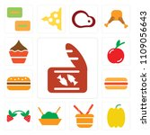 set of 13 simple editable icons ... | Shutterstock .eps vector #1109056643