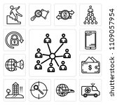set of 13 simple editable icons ... | Shutterstock .eps vector #1109057954