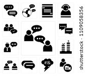 set of 13 simple editable icons ... | Shutterstock .eps vector #1109058356