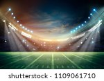 lights at night and stadium 3d... | Shutterstock . vector #1109061710