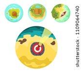 cartoon tropical exotic island...   Shutterstock .eps vector #1109064740
