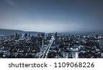 scenic of dark night blue urban ... | Shutterstock . vector #1109068226