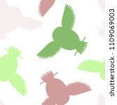 seamless vector pattern with... | Shutterstock .eps vector #1109069003