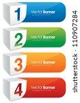 vector numbered banners | Shutterstock .eps vector #110907284