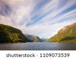 early morning cruise across... | Shutterstock . vector #1109073539