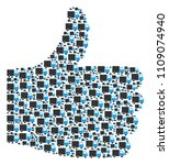 approval mosaic created of...   Shutterstock .eps vector #1109074940
