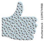 good mark shape built with... | Shutterstock .eps vector #1109074988