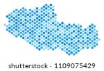blue dotted tibet chinese... | Shutterstock .eps vector #1109075429