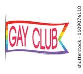 gay club label | Shutterstock .eps vector #1109076110