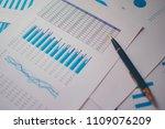 pile of documents  smartphone... | Shutterstock . vector #1109076209