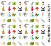 medical drugs icon seamless... | Shutterstock .eps vector #1109078069