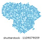 blue round spot lithuania map.... | Shutterstock .eps vector #1109079059