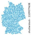 blue pixelated germany map.... | Shutterstock .eps vector #1109079638