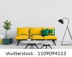living room interior in modern... | Shutterstock . vector #1109094113