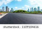 empty asphalt road and modern... | Shutterstock . vector #1109104616