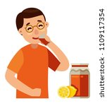 man drinking kombucha with with ... | Shutterstock .eps vector #1109117354