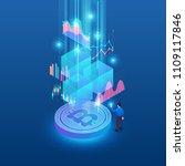 flat design concept blockchain... | Shutterstock .eps vector #1109117846