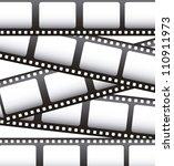 film movie over white... | Shutterstock .eps vector #110911973