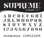 vector of elegant alphabet... | Shutterstock .eps vector #1109121329