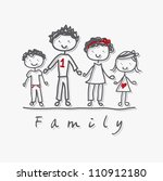 family isolated over gray... | Shutterstock .eps vector #110912180