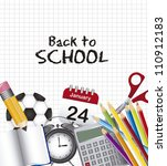 back to school with elements... | Shutterstock .eps vector #110912183