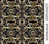 gold embroidery arabesque...   Shutterstock .eps vector #1109131673