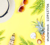 summer holiday background.... | Shutterstock . vector #1109137706