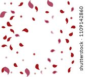 abstract flower petals confetti ... | Shutterstock .eps vector #1109142860