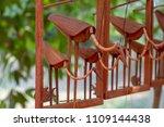 wooden bird egret souvenir.... | Shutterstock . vector #1109144438