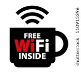 free wifi inside sign with... | Shutterstock . vector #110915396