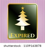 shiny emblem with christmas... | Shutterstock .eps vector #1109163878