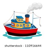 Illustration of ship vector - stock vector