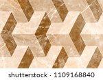 marble 3d wall tiles design... | Shutterstock . vector #1109168840