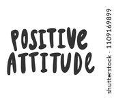 positive attitude. sticker for... | Shutterstock .eps vector #1109169899