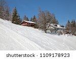 slope on the skiing resort... | Shutterstock . vector #1109178923