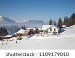slope on the skiing resort... | Shutterstock . vector #1109179010