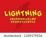 lightning fast speed typography ... | Shutterstock .eps vector #1109179526