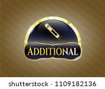 gold shiny emblem with cutter... | Shutterstock .eps vector #1109182136