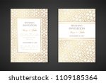 gold arabian texture. wedding... | Shutterstock .eps vector #1109185364