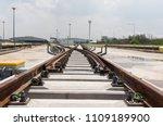 construction of railway tracks  ... | Shutterstock . vector #1109189900