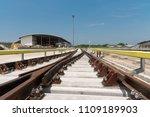 construction of railway tracks  ... | Shutterstock . vector #1109189903