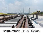 construction of railway tracks  ... | Shutterstock . vector #1109189906