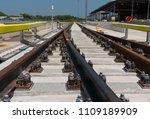 construction of railway tracks  ... | Shutterstock . vector #1109189909