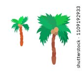 isolated flat colorful palm... | Shutterstock .eps vector #1109192933