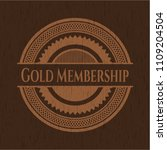 gold membership badge with... | Shutterstock .eps vector #1109204504
